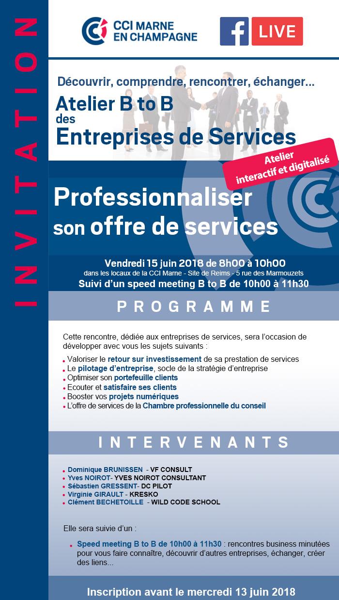 Atelier B to B Professionnaliser votre offre de services